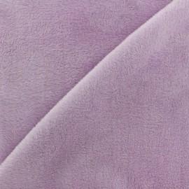 Sweat reverside Minkee velvet Fabric - lilac x 10cm
