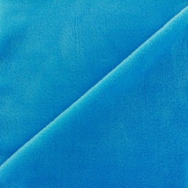 Tissu sweat envers minkee azur x 10cm