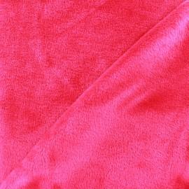 Sweat reverside Minkee velvet Fabric - fuchsia x 10cm