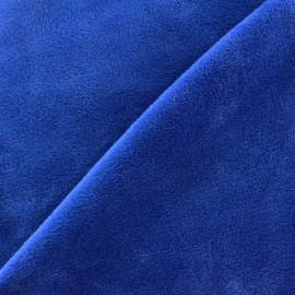 Tissu sweat envers minkee bleu roy x 10cm