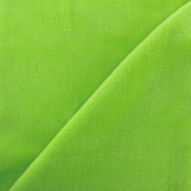 Tissu sweat envers minkee lime x 10cm