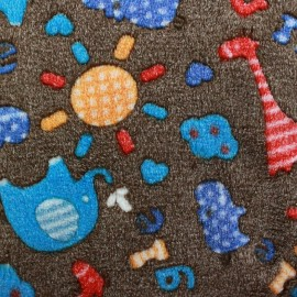 Baby's Security Blanket fabric Sweet jungle - brown x 10cm