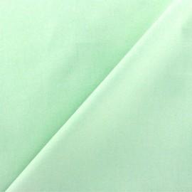 Tissu Popeline vert d'eau x10cm