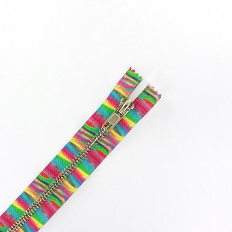 Metal Closed bottom zipper - rainbow