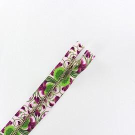 Fermeture à glissière métal non séparable violettes
