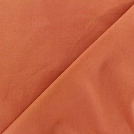 Tissu Popeline brique x10cm