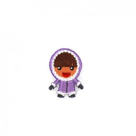 The North Pole iron-on applique - purple Eskimo