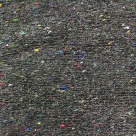 ♥ Only one piece 20 cm X 150 cm ♥ Speckled knitting mesh fabric - grey