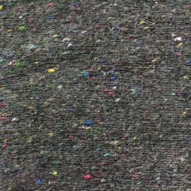 Tissu Maille tricot moucheté gris x 10cm
