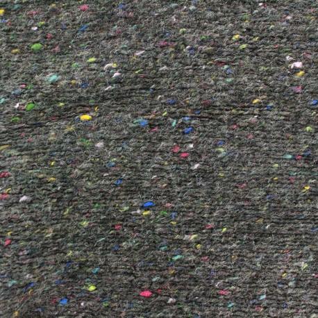 Speckled knitting mesh fabric - grey x 10cm