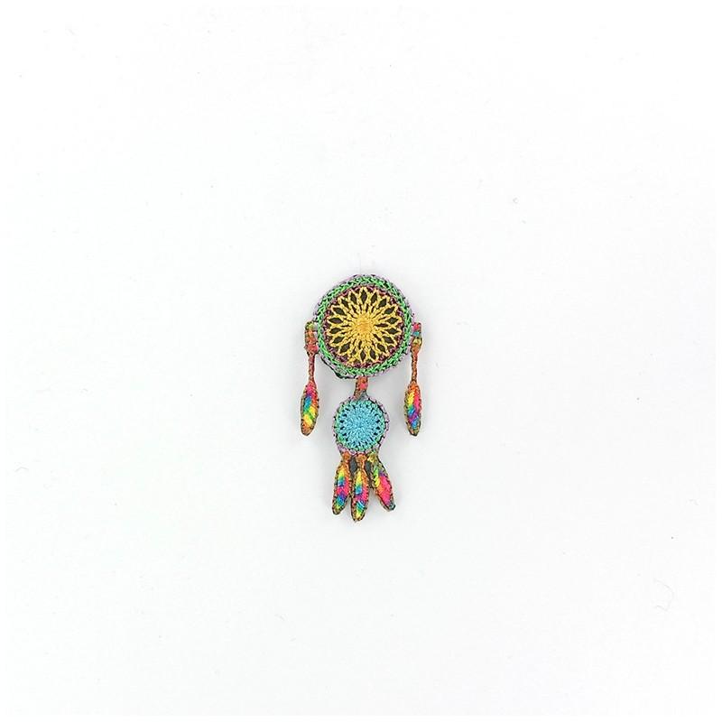 Embroidered Dream catcher iron-on applique - multicolored - Ma ...