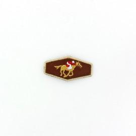 Thermocollant Ecusson joueur de polo marron