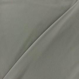 ♥ Coupon 175 cm X 145 cm ♥ Microfiber touch silk Fabric - grey pearl x 10cm