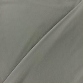 Microfiber touch silk Fabric - grey pearl x 10cm