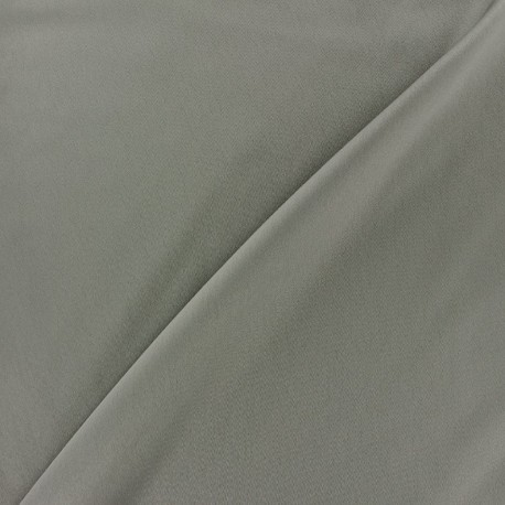 Microfiber touch silk Fabric - grey pearl x 10cm