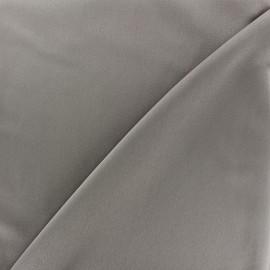 Tissu microfibre touché soie gris x 10cm