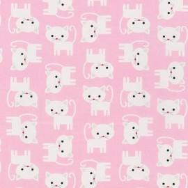 Tissu Urban Zoologie Cute Cats - Pink x 10cm