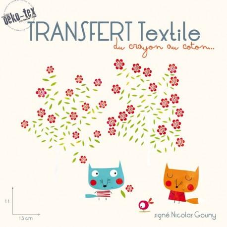 Populaire préféré Transfert textile thermocollant Les renards amoureux - Ma Petite @EF_71