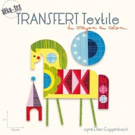 Iron on textile transfer Night Horse - multicolored