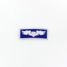♥ Wings stripe Airborne badge iron-on applique - blue ♥