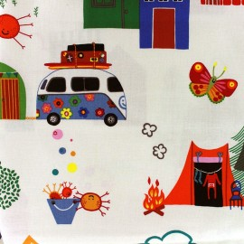 Tissu Monkey's bizness Camp ground fabric x 30cm