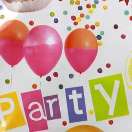Tissu toile cirée Party  x 32cm