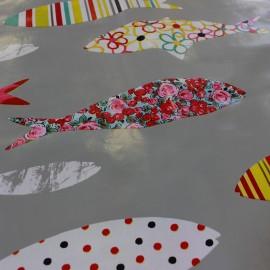 Tissu toile cirée Sardinha  x 10cm