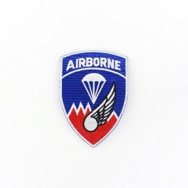 ♥ Parachute Airborne badge iron-on applique - blue ♥