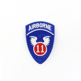 ♥ 11th Airborne badge iron-on applique - blue ♥