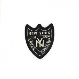 New York 1964 Urban badge iron-on applique - black