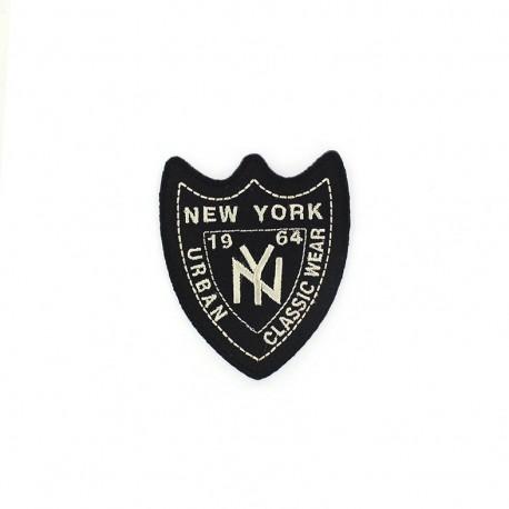 New York 1964 Urban badge iron-on applique - black