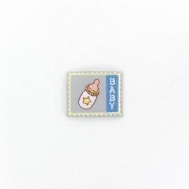 Thermocollant Etiquette Baby - biberon gris