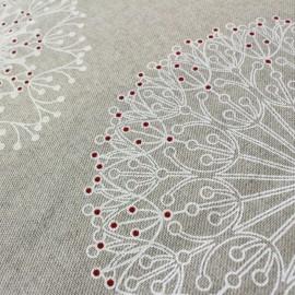 Tissu toile Cléome blanc x 60cm