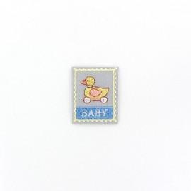 Thermocollant Etiquette Baby - jouet gris