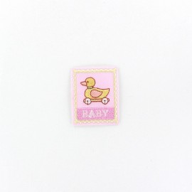 Thermocollant Etiquette Baby - jouet rose