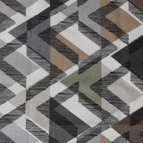 Tissu coton enduit Scandinave naturel x 10cm