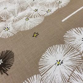 Coated linen canvas fabric Zephir - earth x 60cm