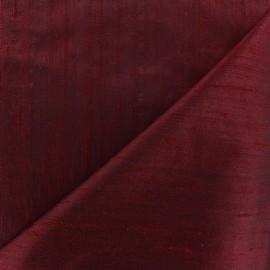 Tissu soie sauvage - lie de vin x 10cm