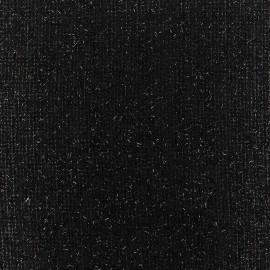 ♥ Coupon tissu 160 cm X 130 cm ♥ Tissu lainage léger Pansy glitter noir