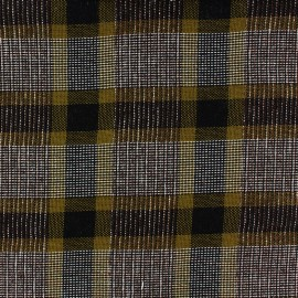 Checked light wool fabric Ellon - mustard x 10cm