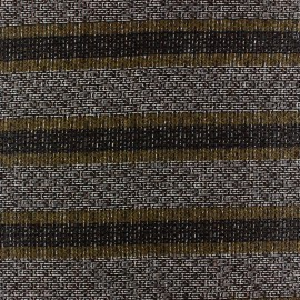 Striped light wool fabric Ellon - mustard x 10cm