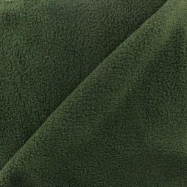 Tissu Polaire vert anglais x10cm