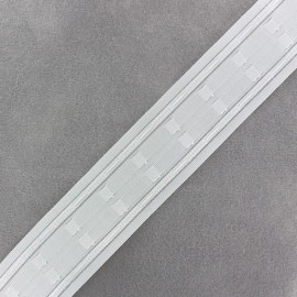 Automatic gathering header tape 45 mm - white