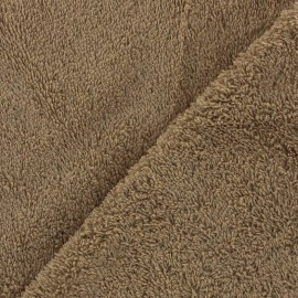 Towel fabric - taupe x 10cm