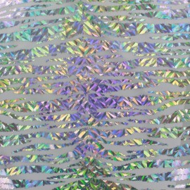 Tissu Lycra Holo Croco irisé x 10cm