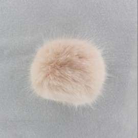 Round-shaped faux fur pompom - powder-colored
