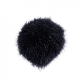 Round-shaped faux fur pompom - midnight blue
