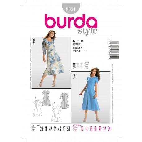 Dress Sewing Pattern Burda n°8351