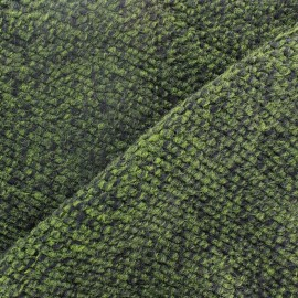 Wool knit fabric - green x 10cm