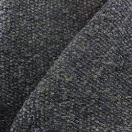 Tissu Lainage tricot gris bleu x 10cm